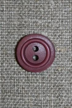 2-huls knap støvet lyng, 12 mm.