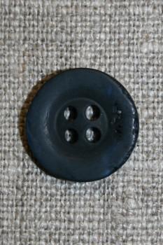 """Mørkeblå """"krakeleret"""" 15 mm."""