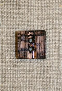 Brun-meleret firkantet knap