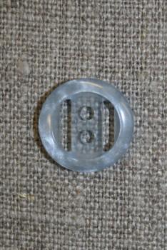 Lyseblå klar knap, 15 mm.
