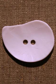 "Sjov ""oval"" knap, 50 mm. hvid"
