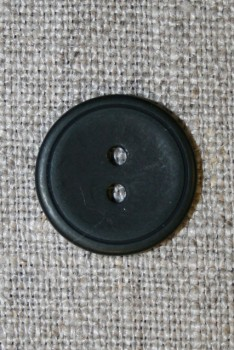 Sort 2-huls knap, 18 mm.