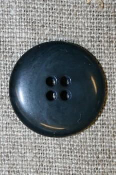 Blå-grå 4-huls knap, 20 mm.