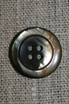 4-huls knap brun meleret 22 mm.