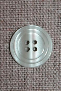 4-huls knap m/cirkel, støvet lysegrøn