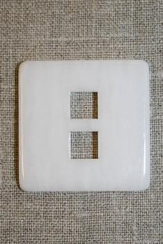 Stor firkantet knap, hvid