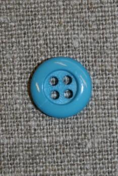 4-huls knap 12 mm, turkis/aqua