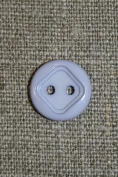 2-huls knap m/firkant, baby-lyselilla