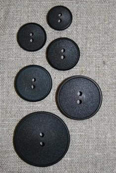 Sort 2-huls knap 20 mm.