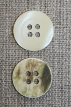 4-huls knap off-white/camuflage, 18 mm.