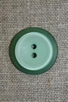 Lysegrøn/grøn knap, 22 mm.