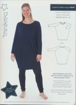 70047 Minikrea loose fit jersey kjole