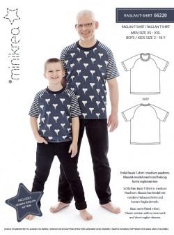 66220 Minikrea Raglan T-shirt til dreng/herre