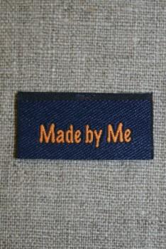 """Blå/orange mærke """"Made by me"""""""