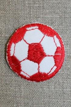 Fodbold rød/hvid, lille