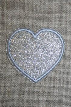Motiv i sølv, hjerte 50 mm.