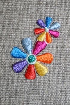 2 blomster multifarvet