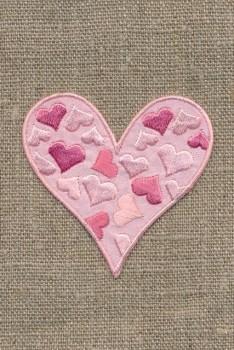 Lyserødt hjerte m/hjerter