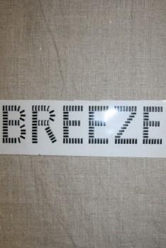 """Strygemærke aflange nitter """"Breeze"""", sort"""