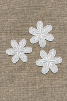 3 blomster, hvid