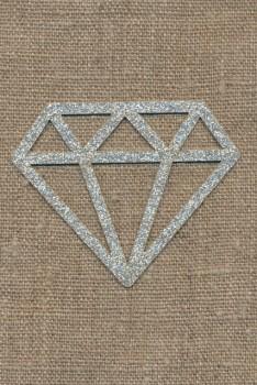 Strygemærke m/Diamant, sølv
