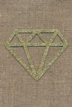 Strygemærke m/Diamant, guld