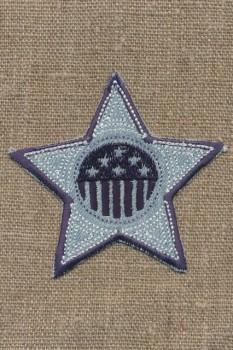 Motiv stjerne denimblå