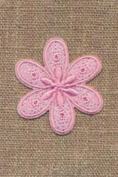Motiv med blomst i lyserød
