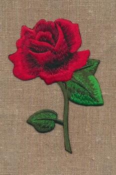 Motiv med stor rose i rød