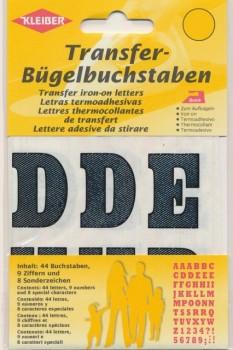 Transfer bogstaver og tal i sort