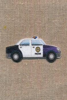 Strygemærke med politi bil