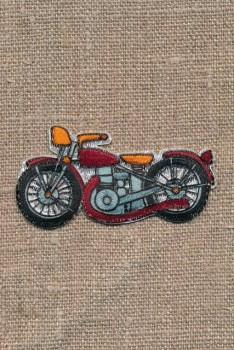 Strygemærke med motorcykel