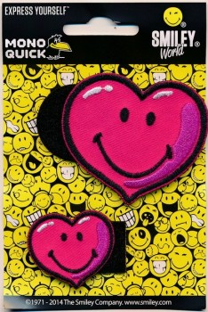 Motiver med 2 hjerter i pink, udskiftelig
