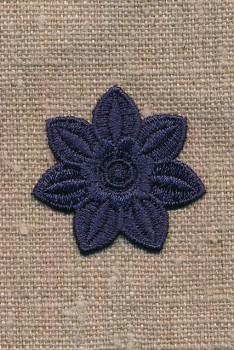 Motiv m/blomst, marine