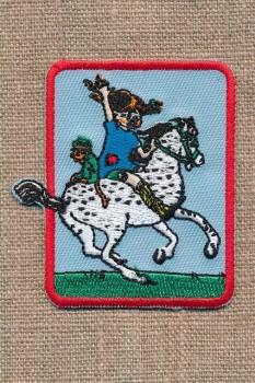 Motiv Pippi Langstrømpe og hest