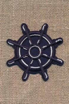 Strygemærke Sailor - Skibsrat i marine/hvid