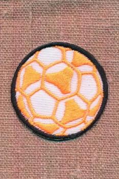 Fodbold neon orange/hvid/sort