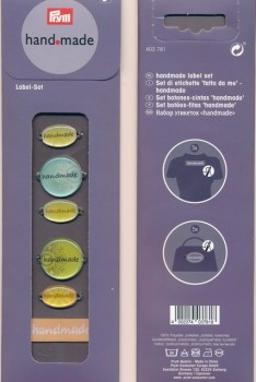 Handmade Label sæt i lime-aqua - PRYM