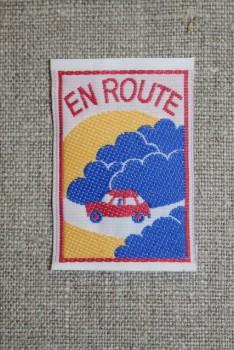 """Mærke m/bil, """"en route"""""""