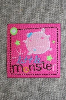 """Strygemærke pink """"little monster"""""""