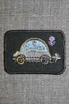 Mørkegrå mærke m/bil