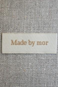 """Beige mærke """"Made by mor"""""""