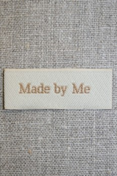"""Beige mærke """"Made by me"""""""