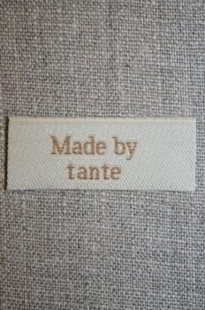 """Beige mærke """"Made by tante"""""""