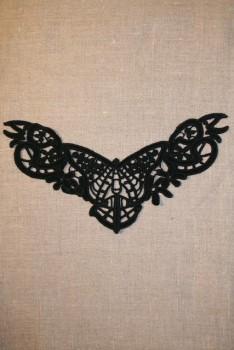 Besætning m/sommerfugl sort
