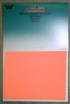 Lap reflex 10x20 cm. orange