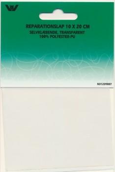 Transparant selvklæbende Reparationslap i polyester 10X20 cm.