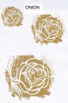 Transfer/strygemærke m/Tommelise, guld