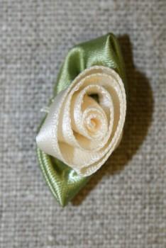 Rose, off-white/grøn stor
