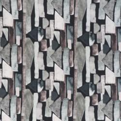 Jersey i Bambus med digitalprint med firkant mønster